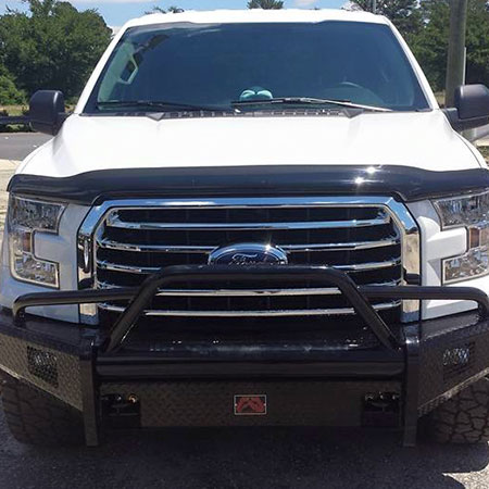 Newly installed Fab Fours Full Bumper Replacement of 2015 ford f150. Looks Awesome!