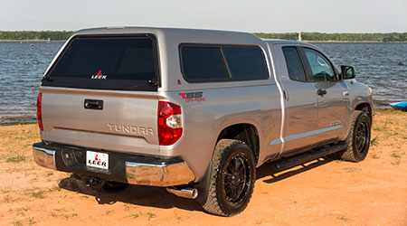 Silver Leer 180 cover on a toyota tundra